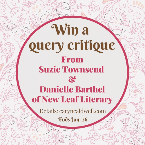 Win a query critique from Suzie Townsend and Danielle Barthel of New Leaf Literary!